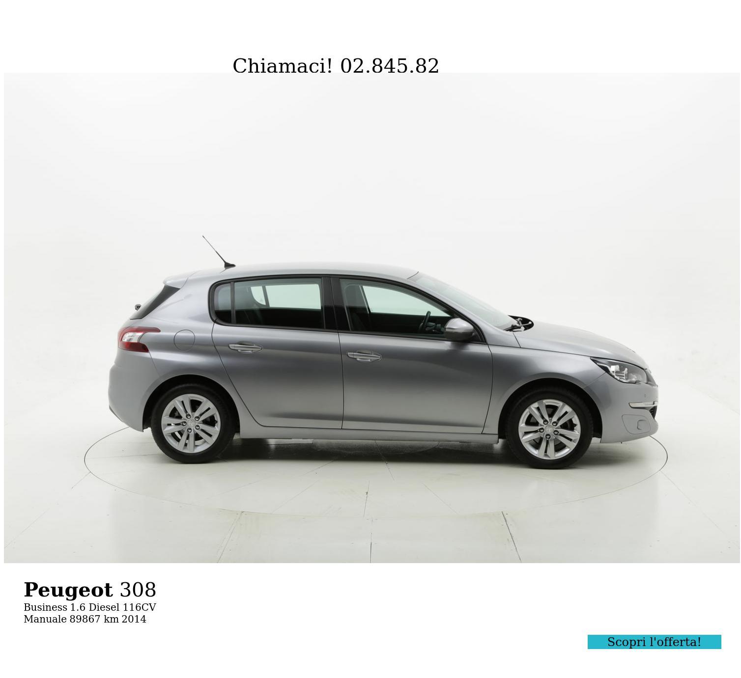 Peugeot 308 usata del 2014 con 89.982 km | brumbrum