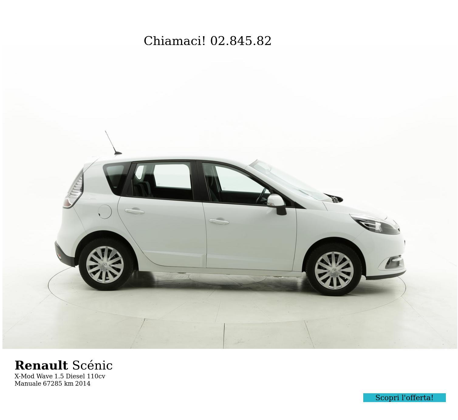 Renault Scénic usata del 2014 con 67.405 km | brumbrum