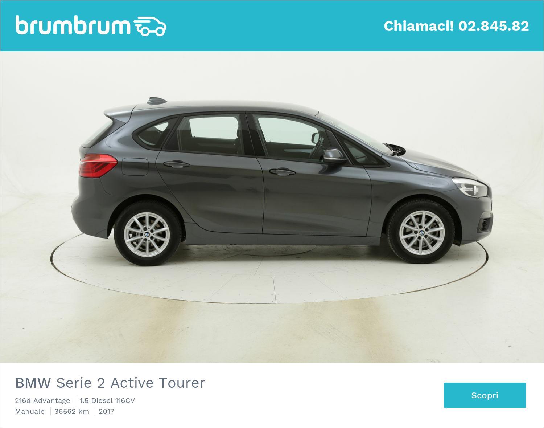 BMW Serie 2 Active Tourer 216d Advantage usata del 2017 con 36.600 km | brumbrum