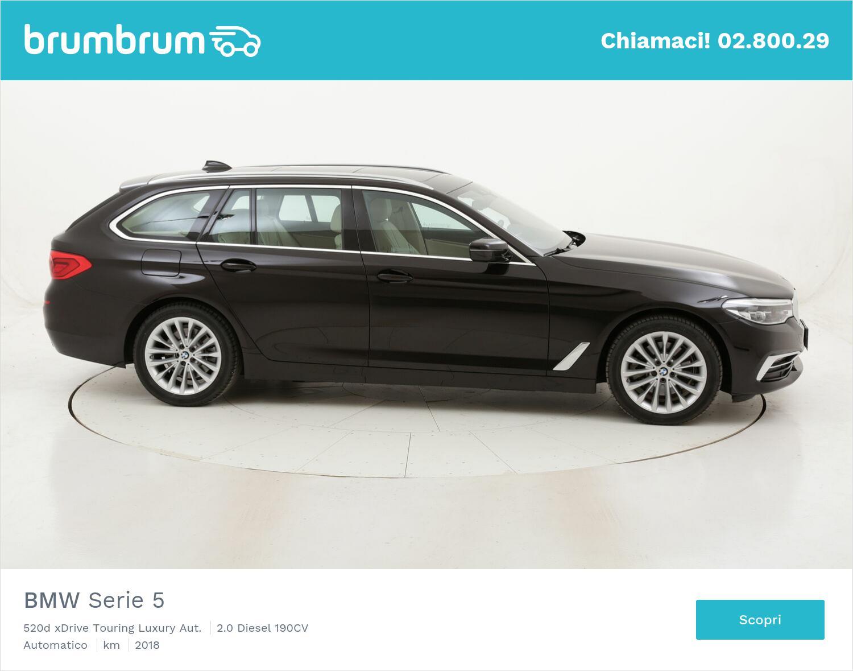 BMW Serie 5 520d xDrive Touring Luxury Aut. usata del 2018 con 102.969 km | brumbrum