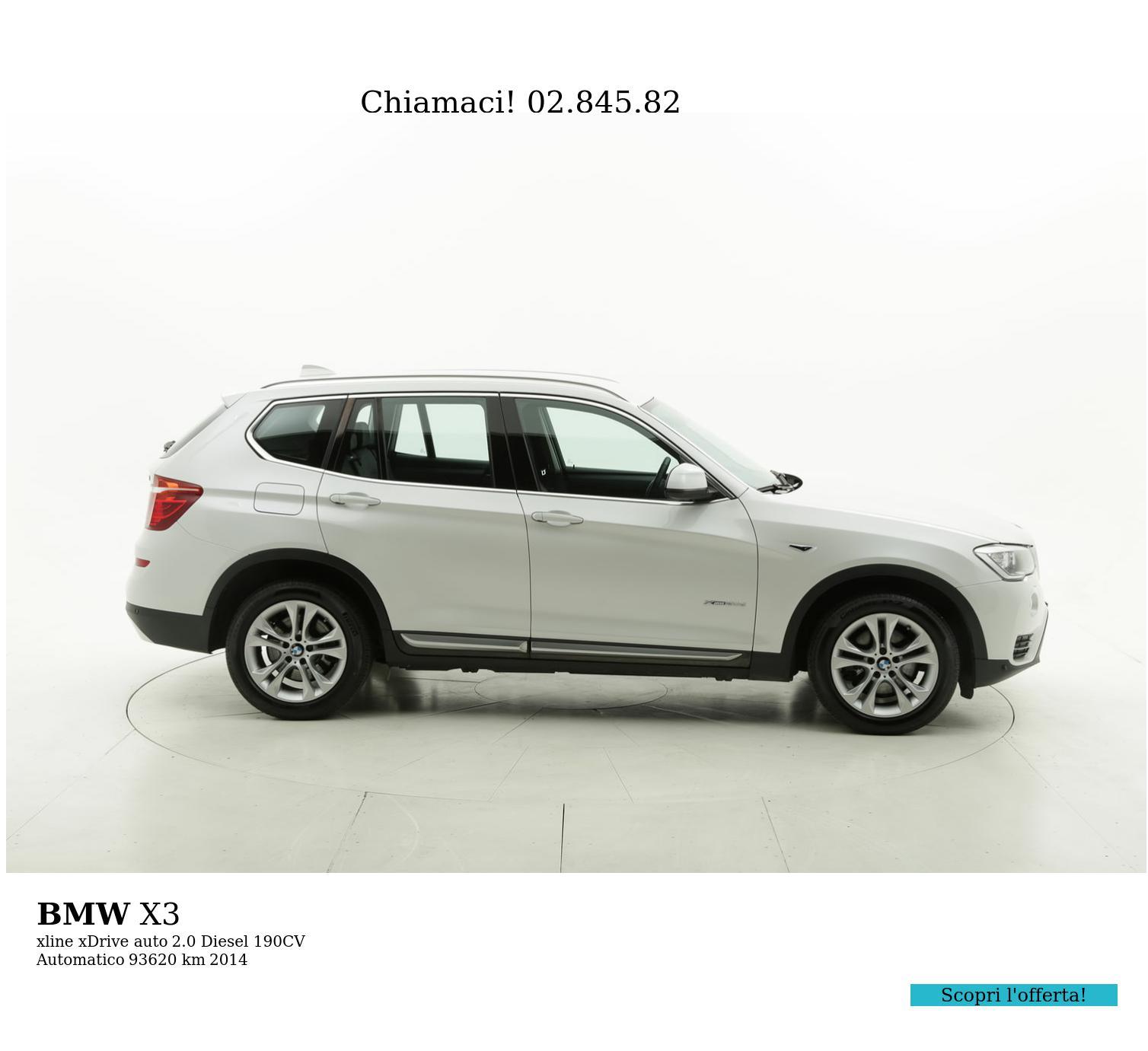 BMW X3 usata del 2014 con 93.737 km | brumbrum