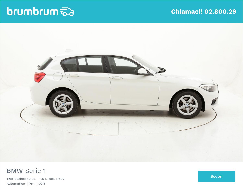 BMW Serie 1 116d Business Aut. usata del 2016 con 92.656 km   brumbrum