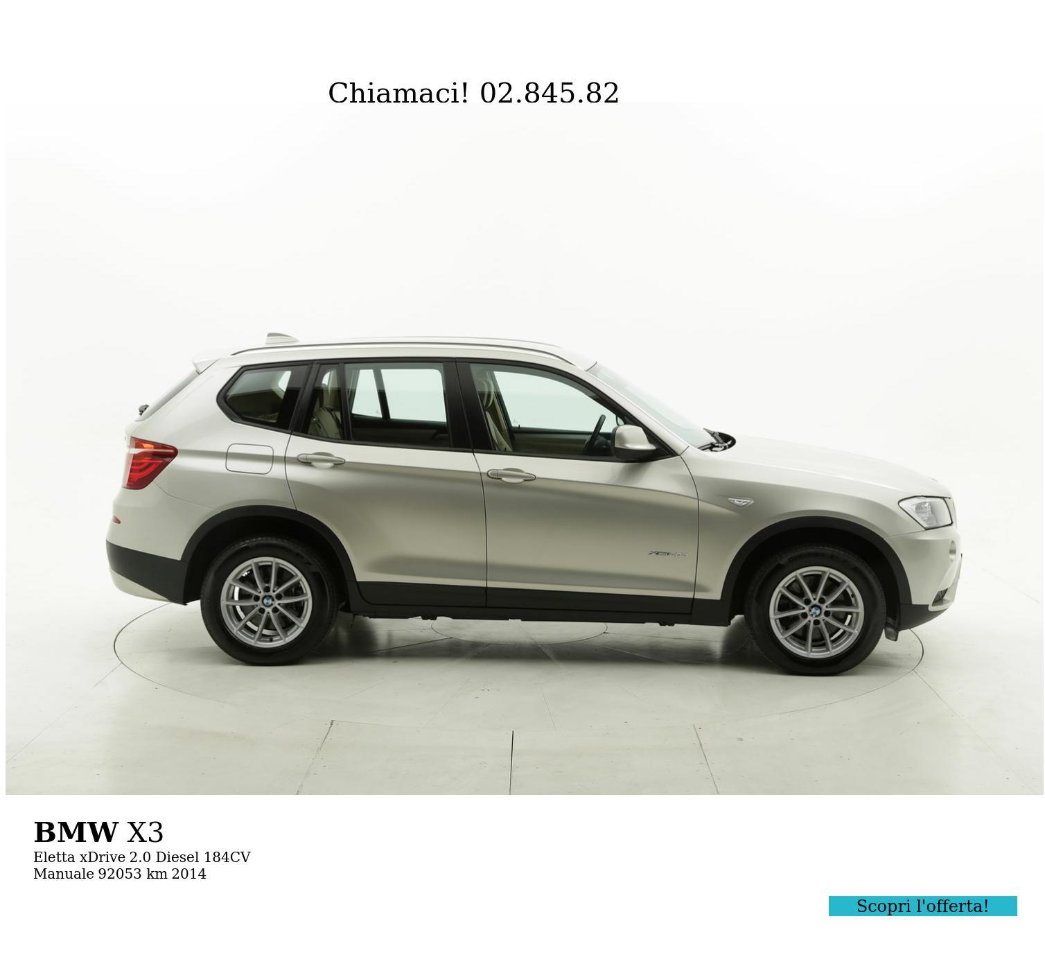 BMW X3 usata del 2014 con 92.171 km | brumbrum