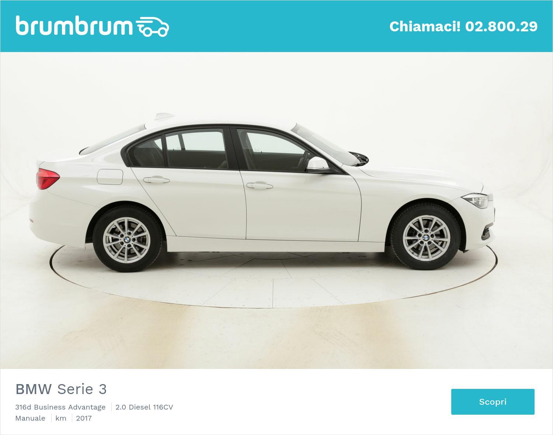 BMW Serie 3 316d Business Advantage usata del 2017 con 83.819 km | brumbrum