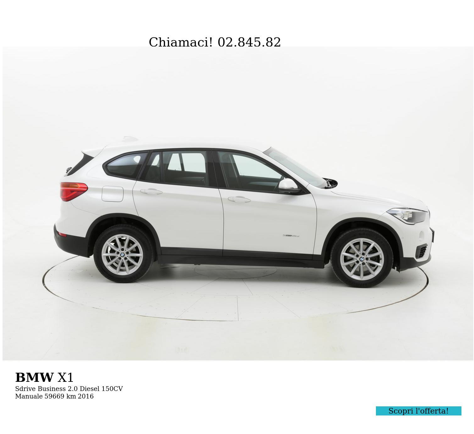 BMW X1 usata del 2016 con 59.838 km   brumbrum