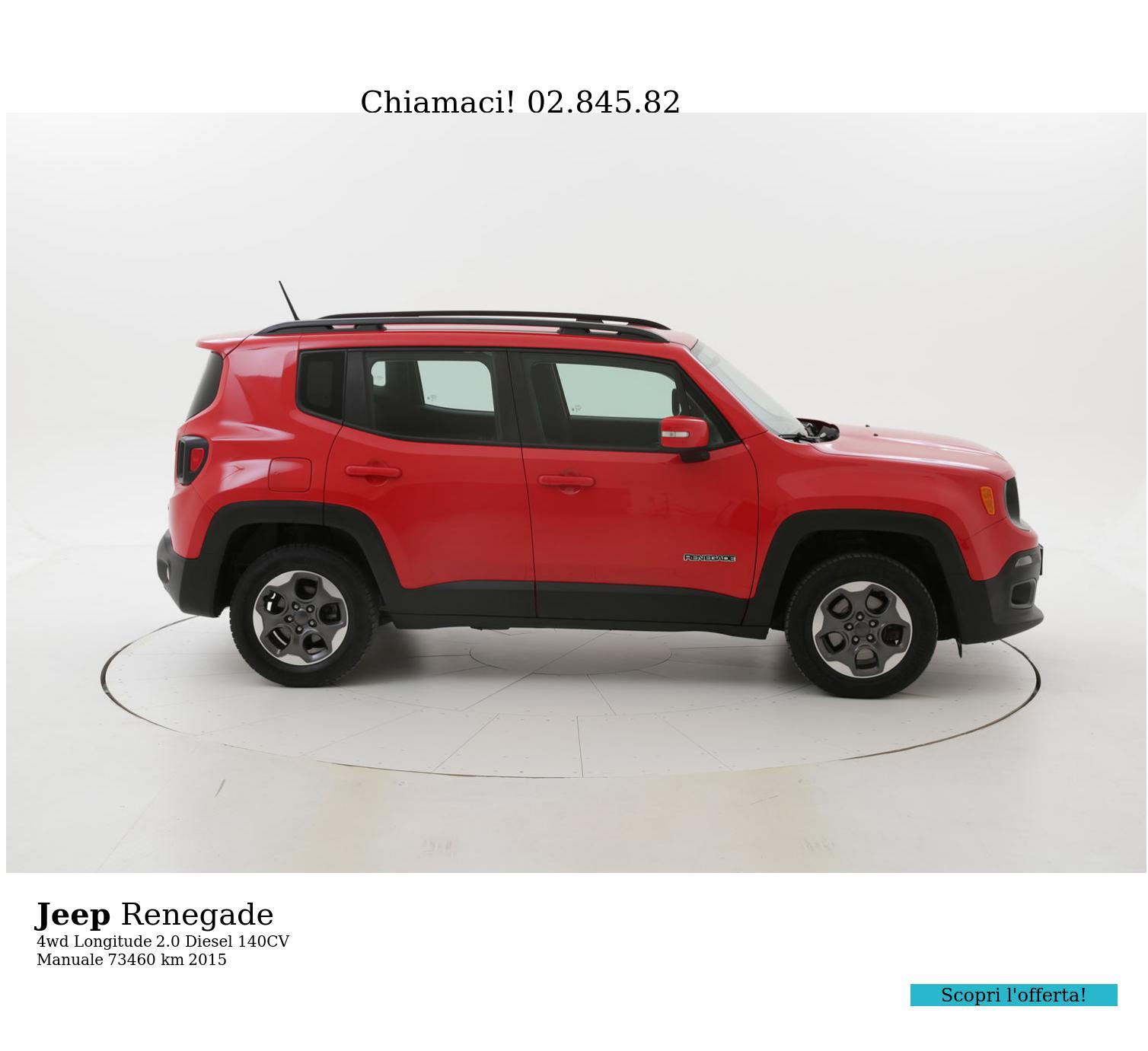 Jeep Renegade usata del 2015 con 74.239 km | brumbrum