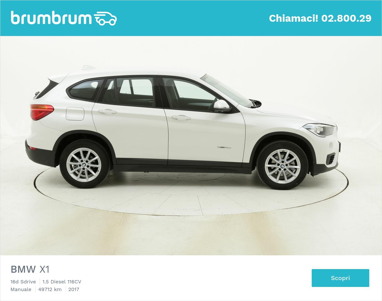 BMW X1 usata del 2017 con 49.725 km   brumbrum
