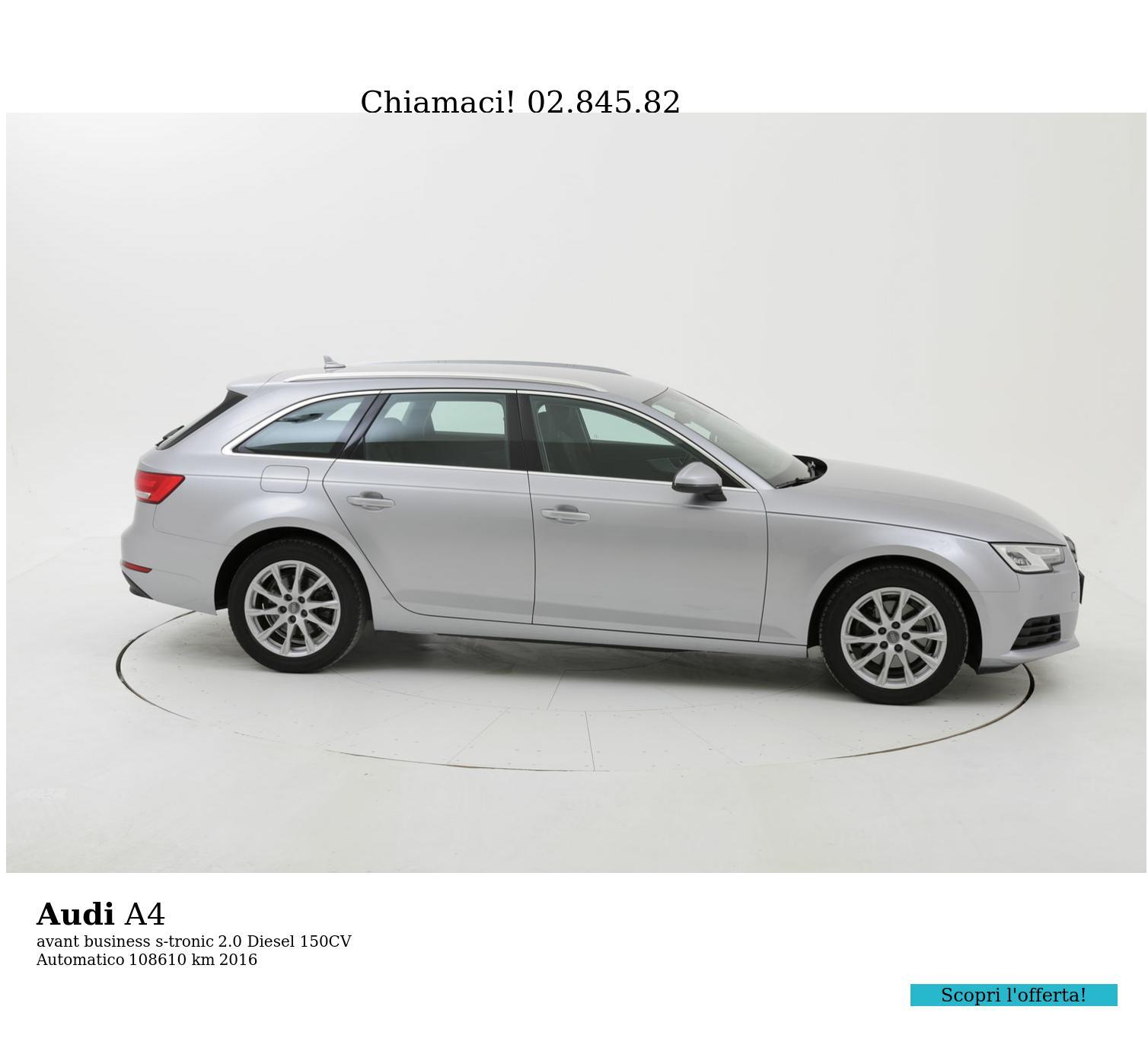 Audi A4 usata del 2016 con 109.272 km   brumbrum