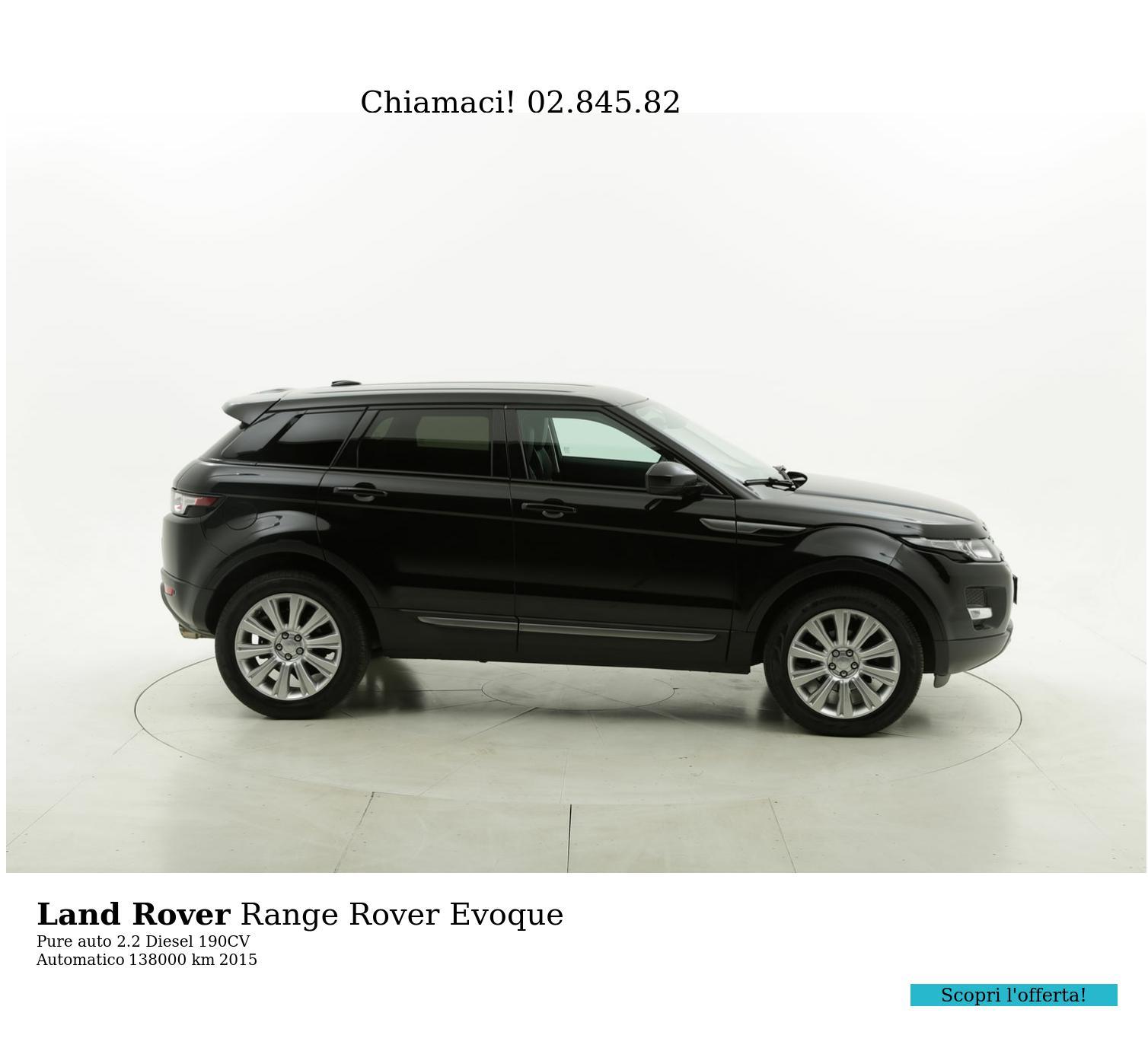 Land Rover Range Rover Evoque usata del 2015 con 138.215 km | brumbrum