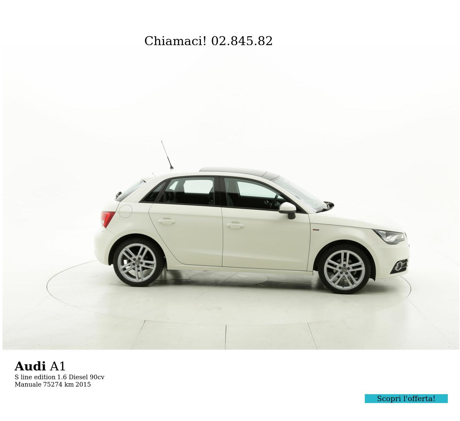 Audi A1 usata del 2015 con 75.765 km | brumbrum