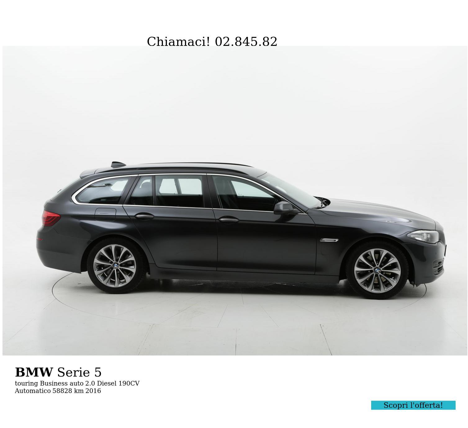 BMW Serie 5 usata del 2016 con 59.114 km   brumbrum