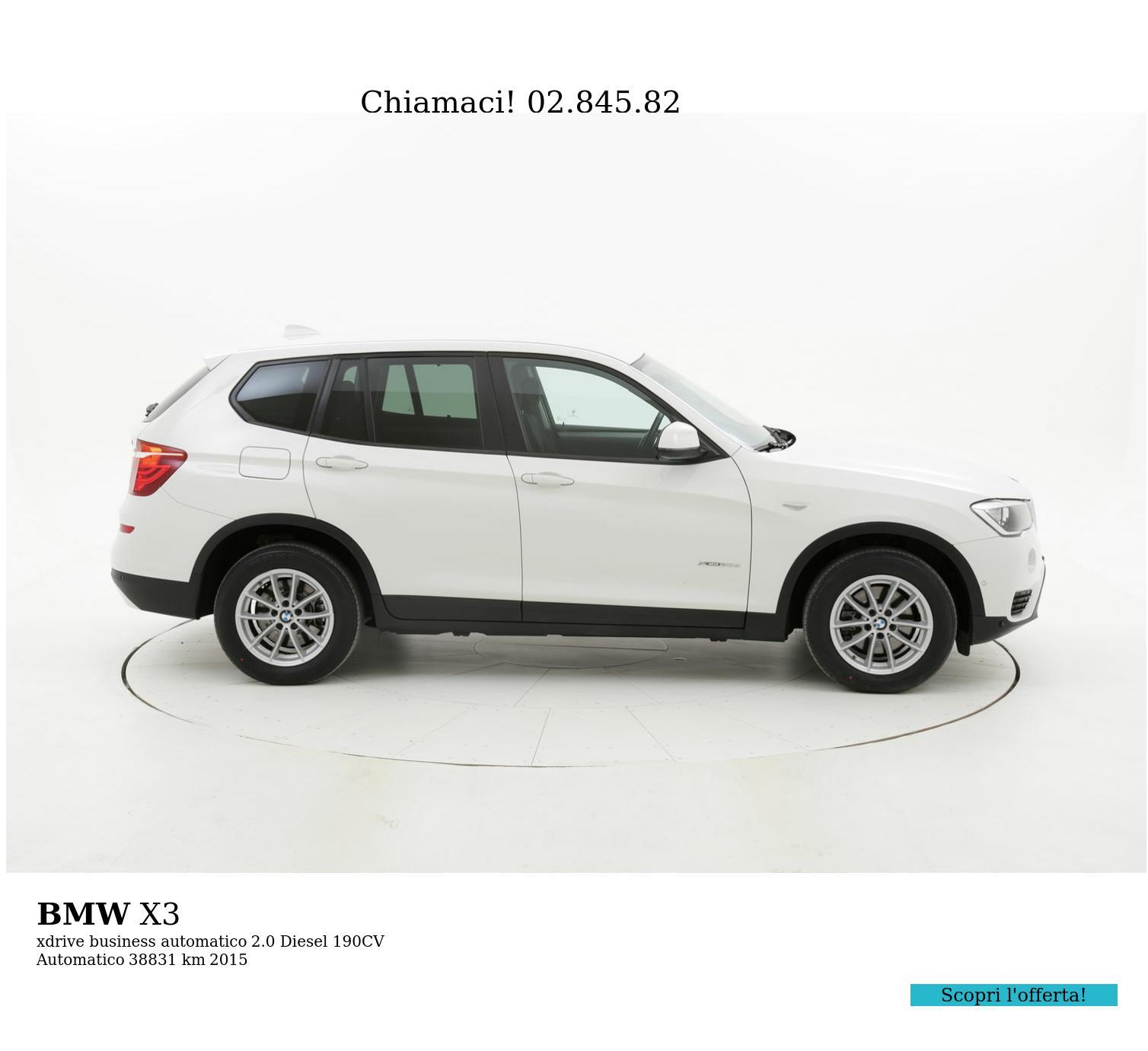 BMW X3 usata del 2015 con 39.435 km | brumbrum