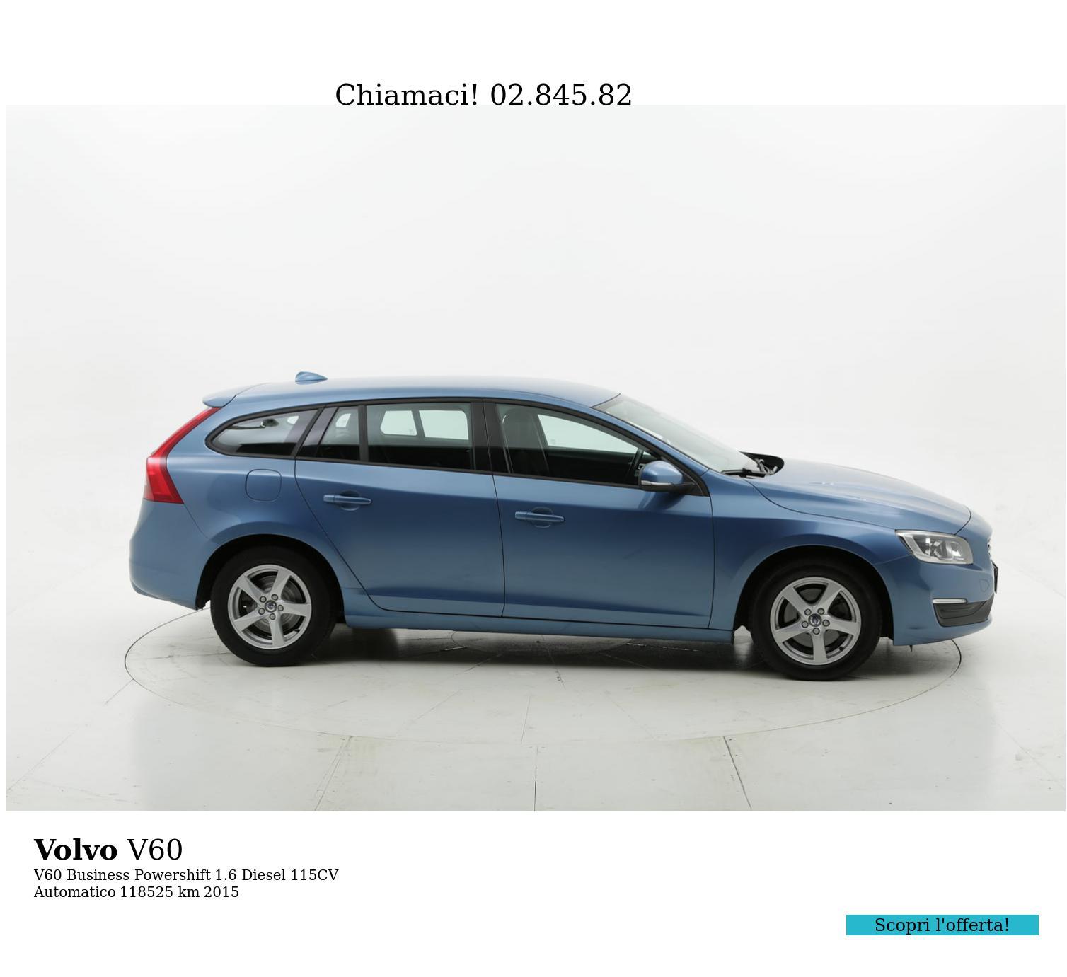 Volvo V60 usata del 2015 con 118.651 km   brumbrum