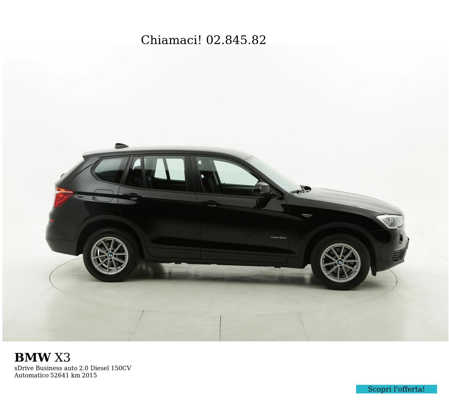 BMW X3 usata del 2015 con 52.667 km | brumbrum