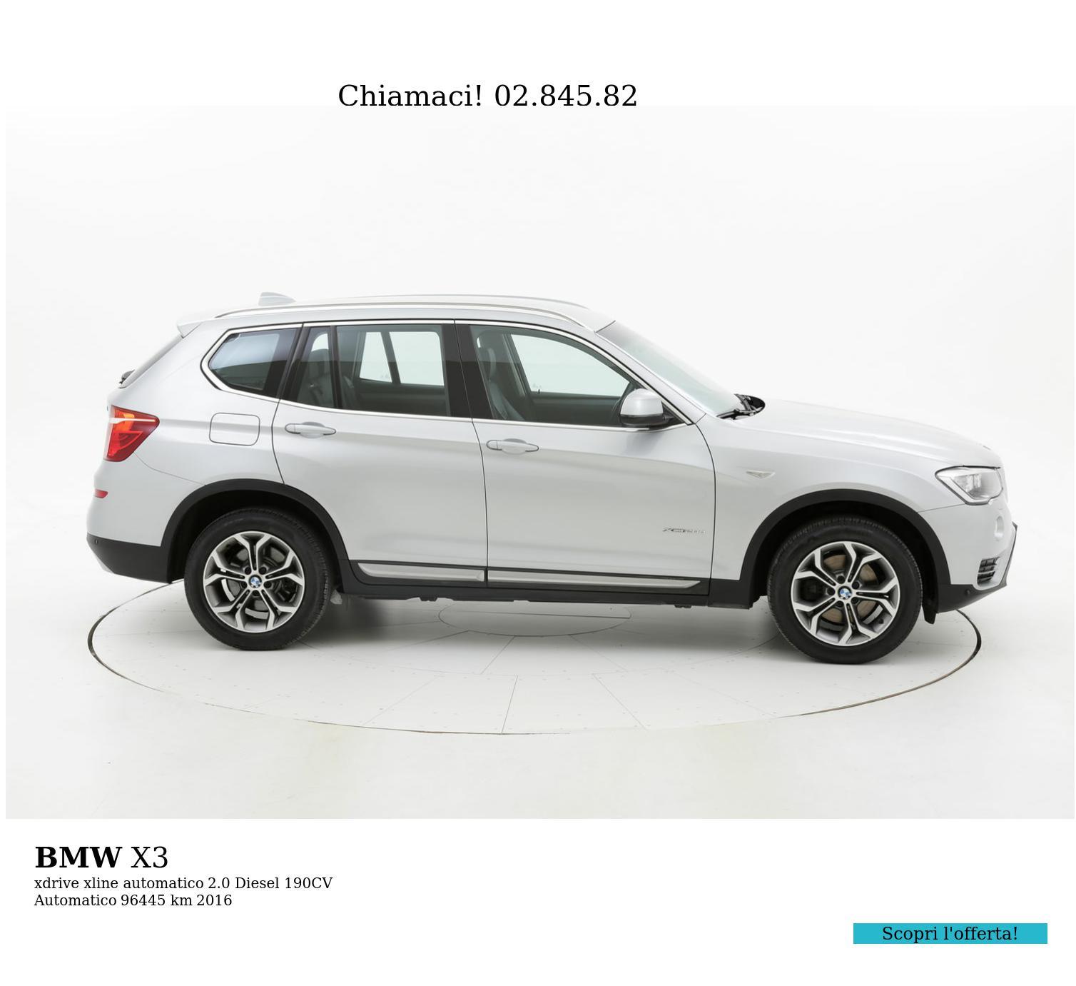 BMW X3 usata del 2016 con 96.550 km | brumbrum