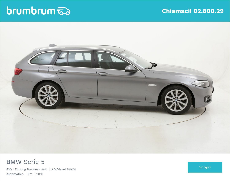 BMW Serie 5 520d Touring Business Aut. usata del 2016 con 99.794 km   brumbrum