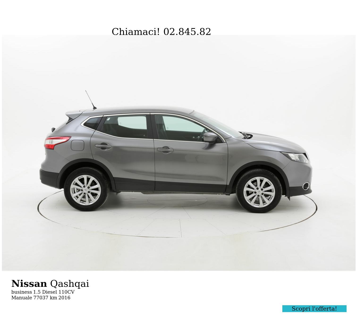 Nissan Qashqai usata del 2016 con 77.400 km | brumbrum