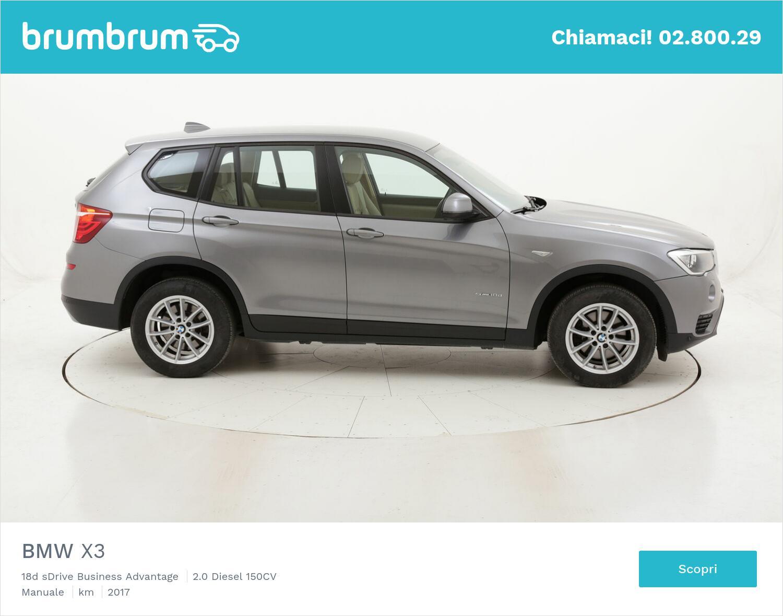 BMW X3 18d sDrive Business Advantage usata del 2017 con 102.672 km   brumbrum