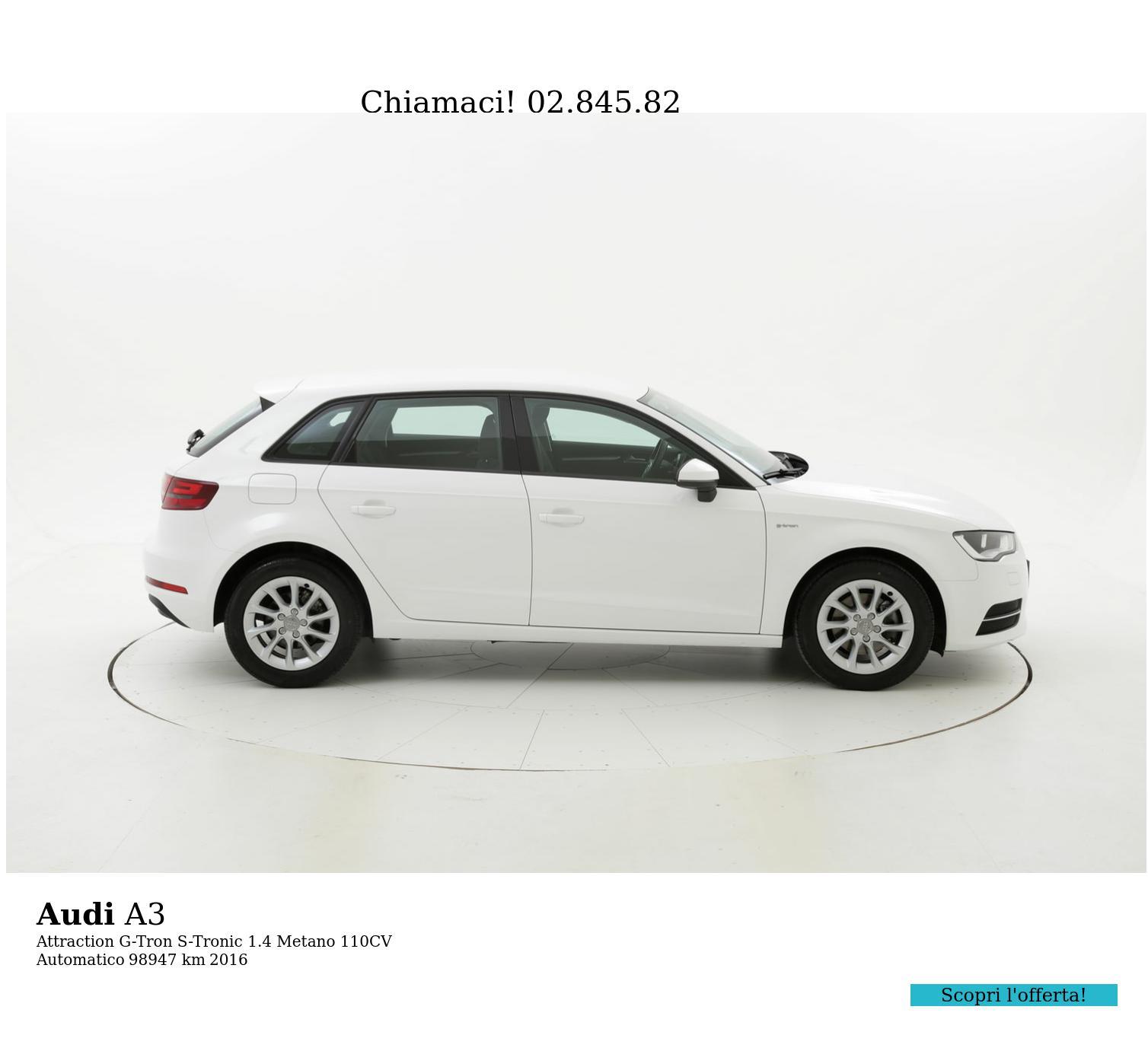 Audi A3 usata del 2016 con 99.178 km   brumbrum