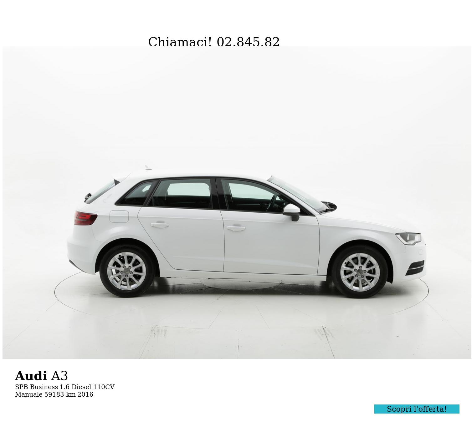 Audi A3 usata del 2016 con 59.459 km | brumbrum
