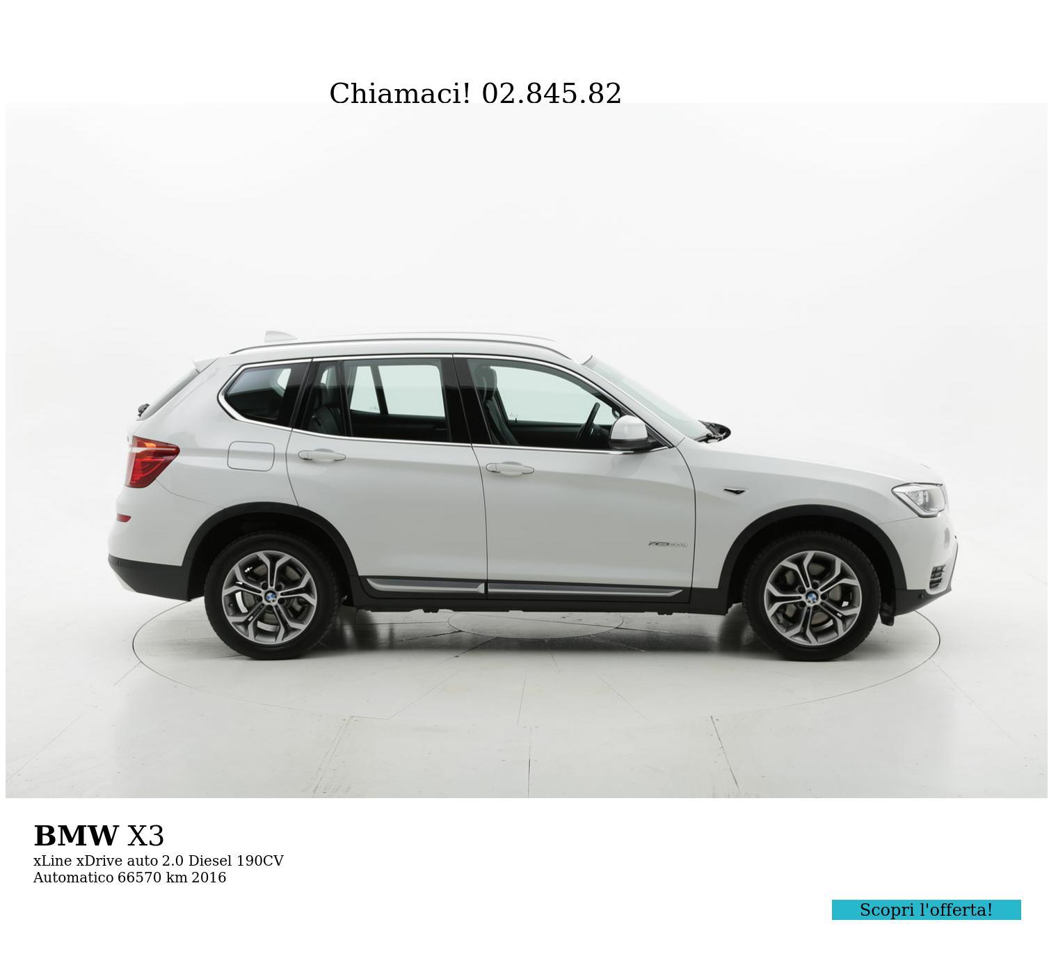 BMW X3 usata del 2016 con 66.604 km | brumbrum