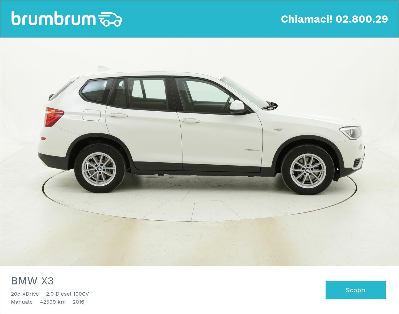 BMW X3 usata del 2016 con 42.620 km | brumbrum