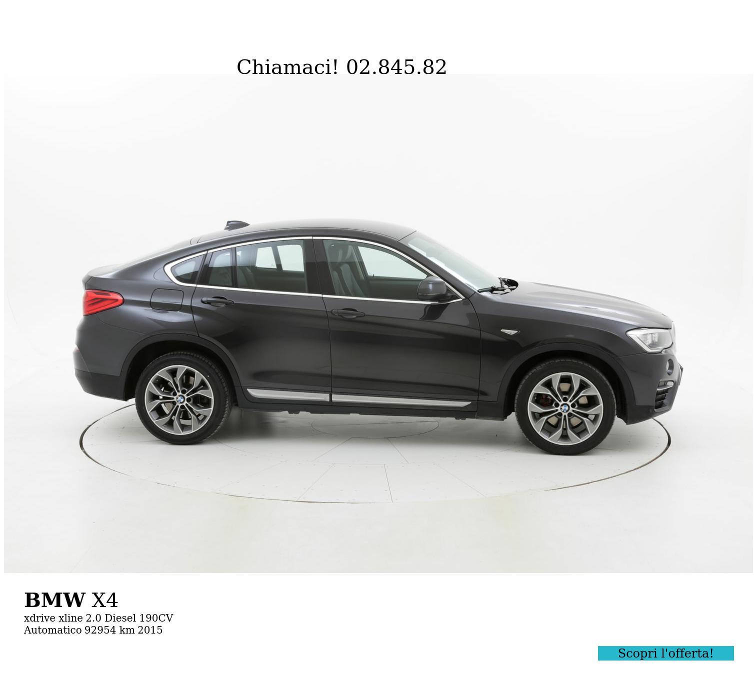 BMW X4 usata del 2015 con 92.996 km | brumbrum
