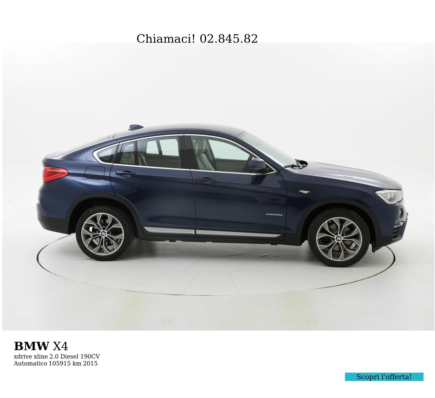 BMW X4 usata del 2015 con 106.301 km   brumbrum