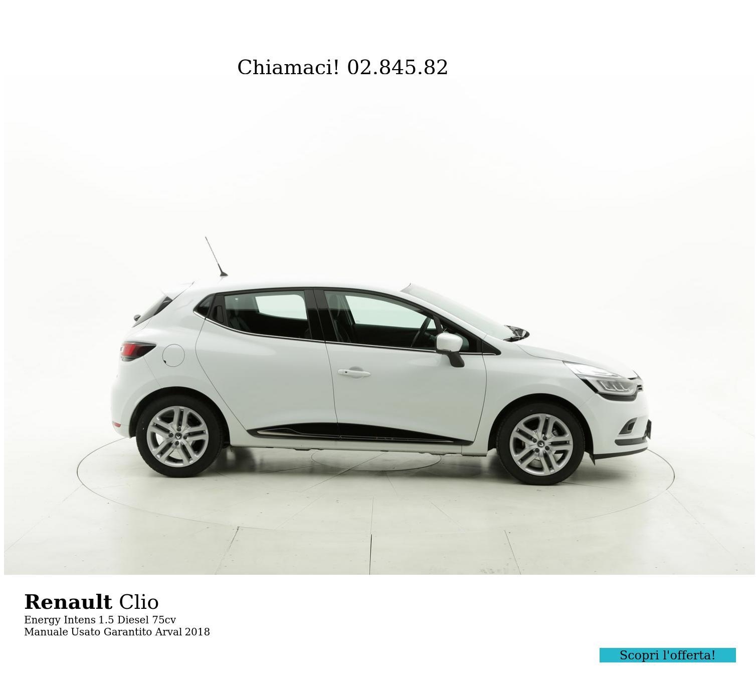 Renault Clio km 0 diesel bianca | brumbrum