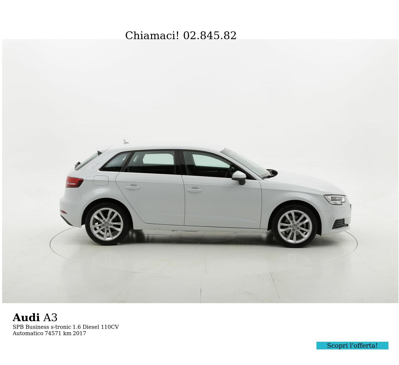 Audi A3 usata del 2017 con 74.779 km | brumbrum