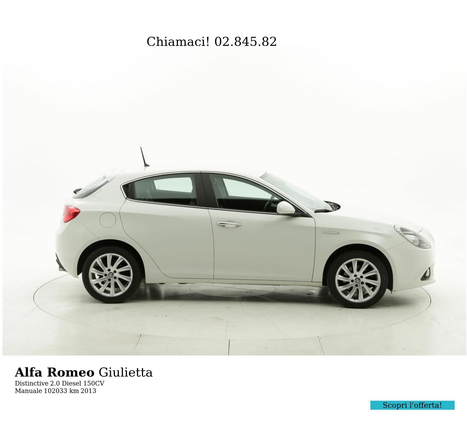 Alfa Romeo Giulietta usata del 2013 con 102.746 km | brumbrum
