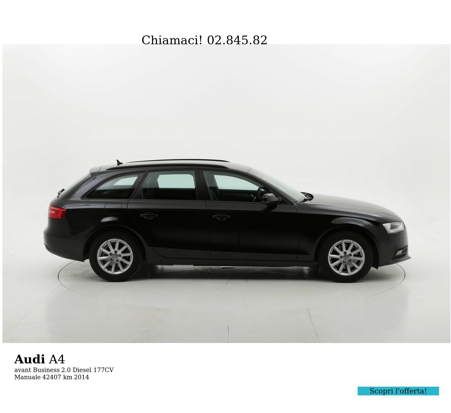 Audi A4 usata del 2014 con 42.508 km   brumbrum