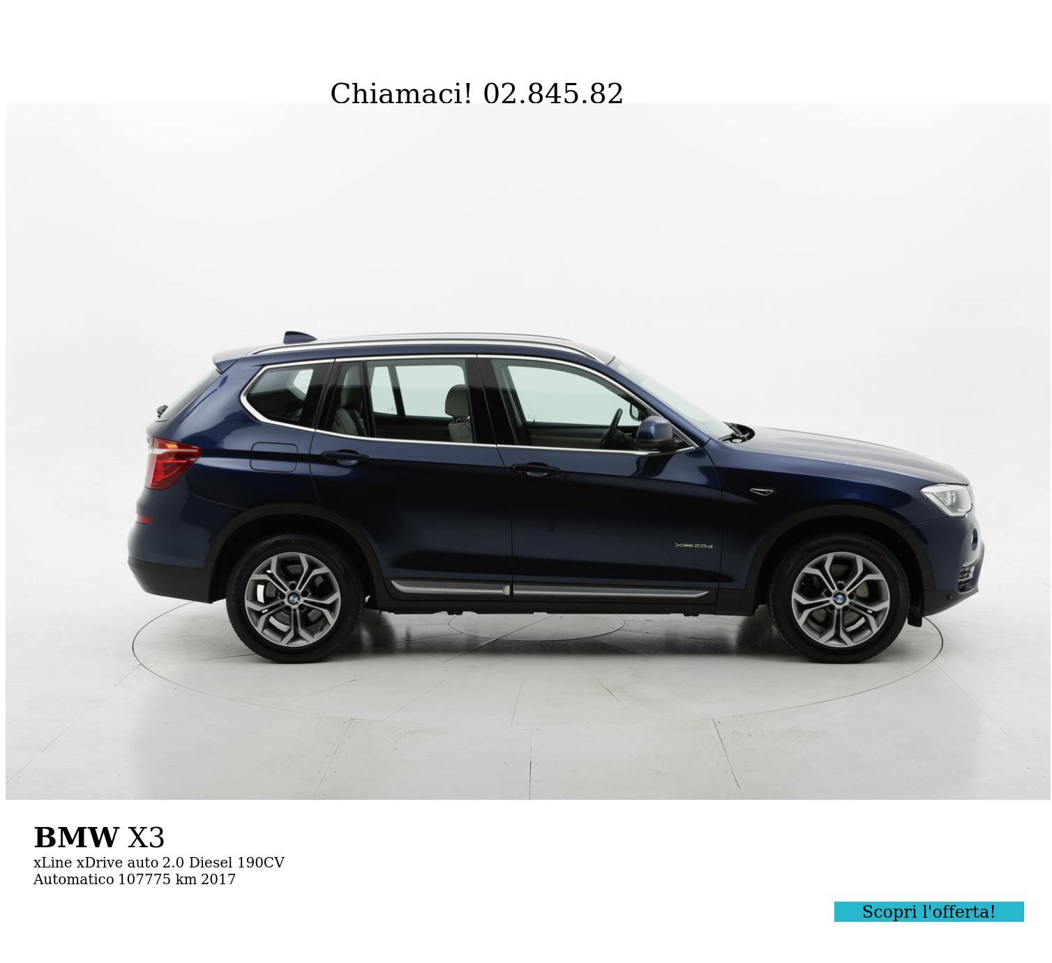 BMW X3 usata del 2017 con 108.441 km | brumbrum