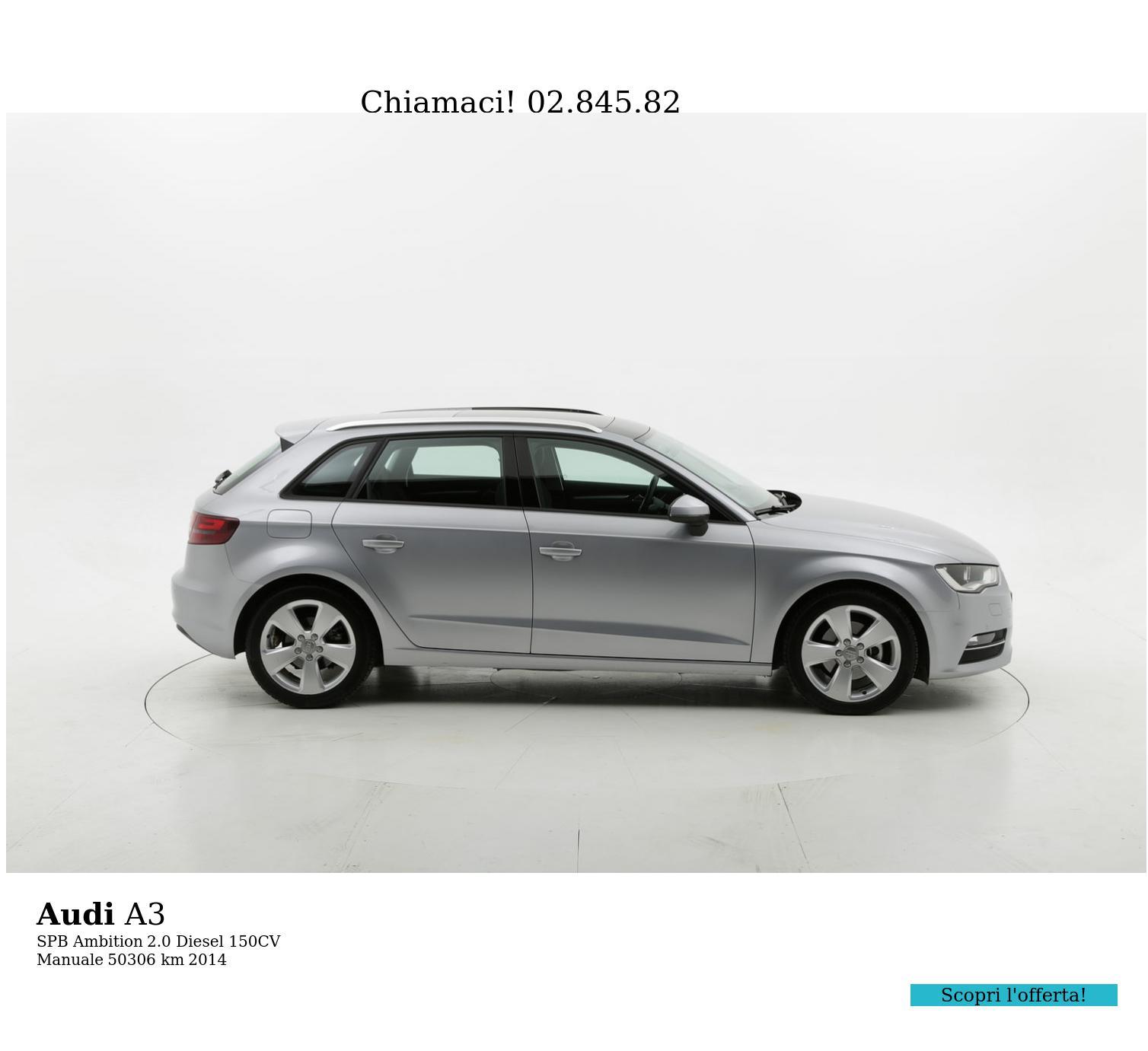 Audi A3 usata del 2014 con 50.315 km | brumbrum