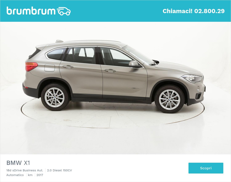 BMW X1 18d sDrive Business Aut. usata del 2017 con 49.765 km | brumbrum