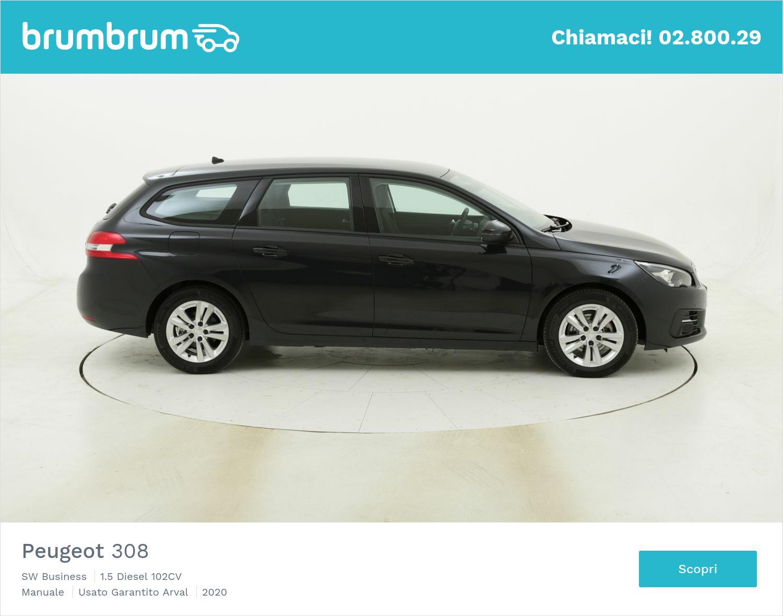 Peugeot 308 SW Business km 0 diesel blu | brumbrum
