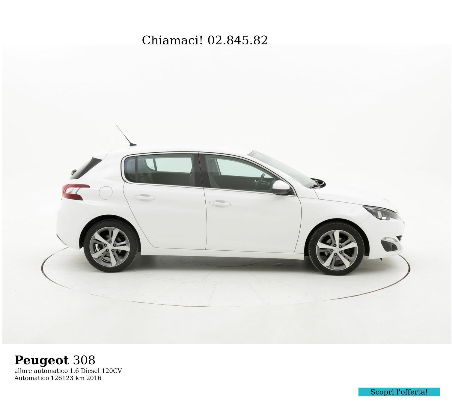 Peugeot 308 usata del 2016 con 126.585 km | brumbrum