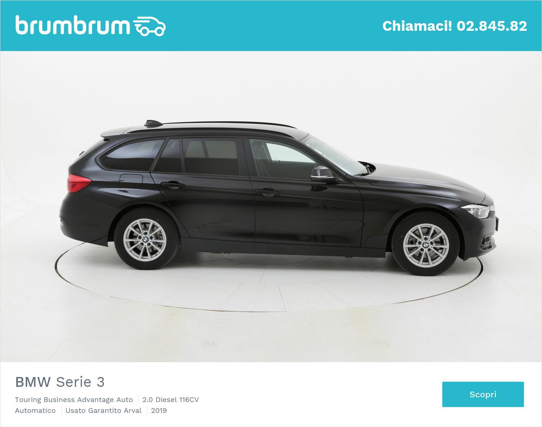 BMW Serie 3 Touring Business Advantage Auto km 0 diesel nera | brumbrum