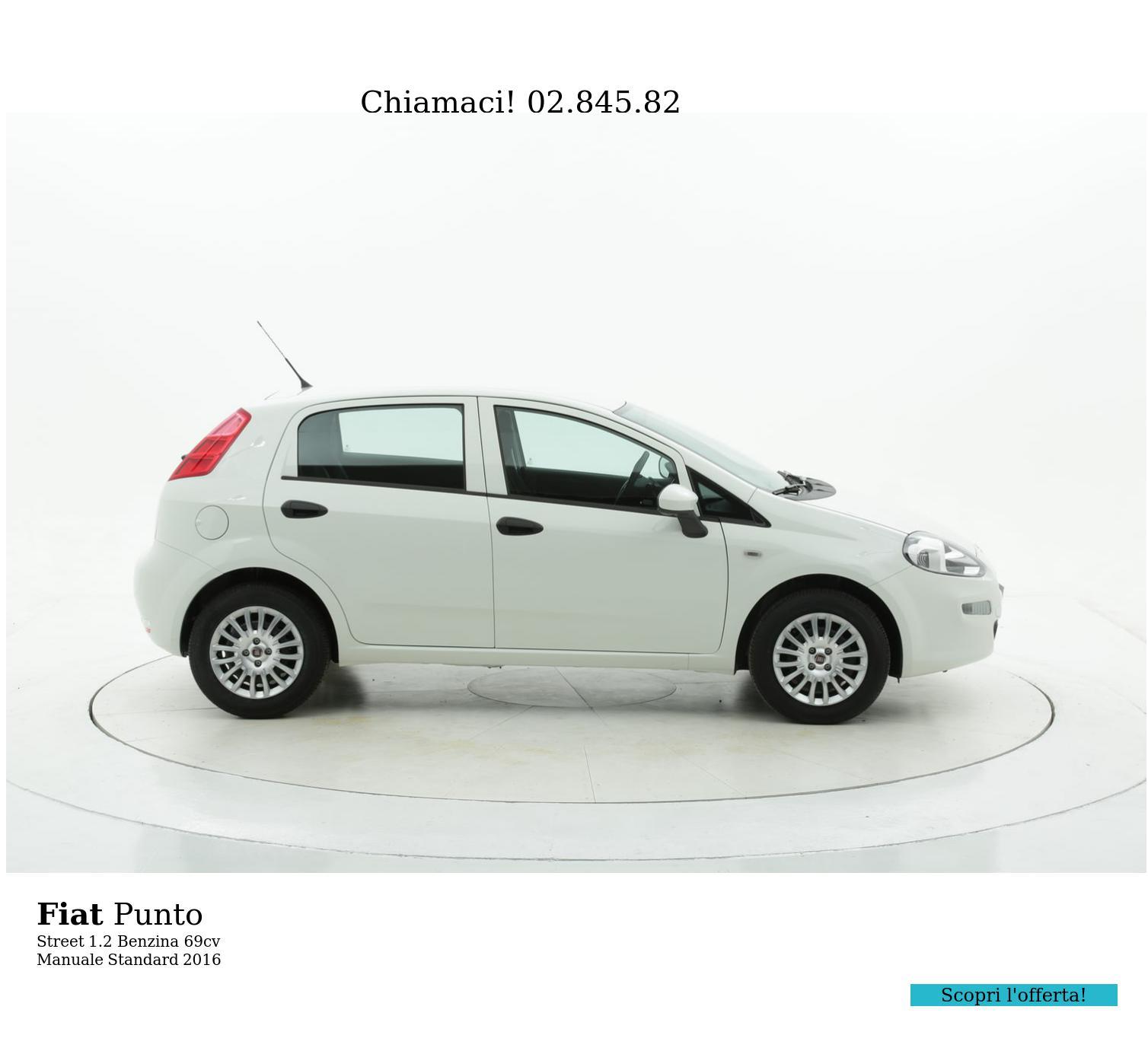 Fiat Punto Street km 0 benzina bianca | brumbrum