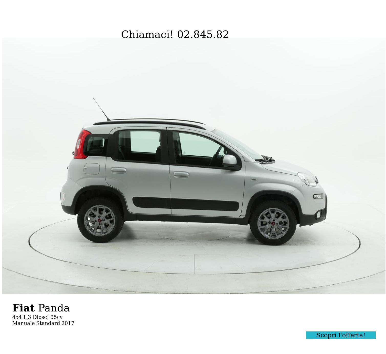 Fiat Panda 4x4 km 0 diesel argento | brumbrum