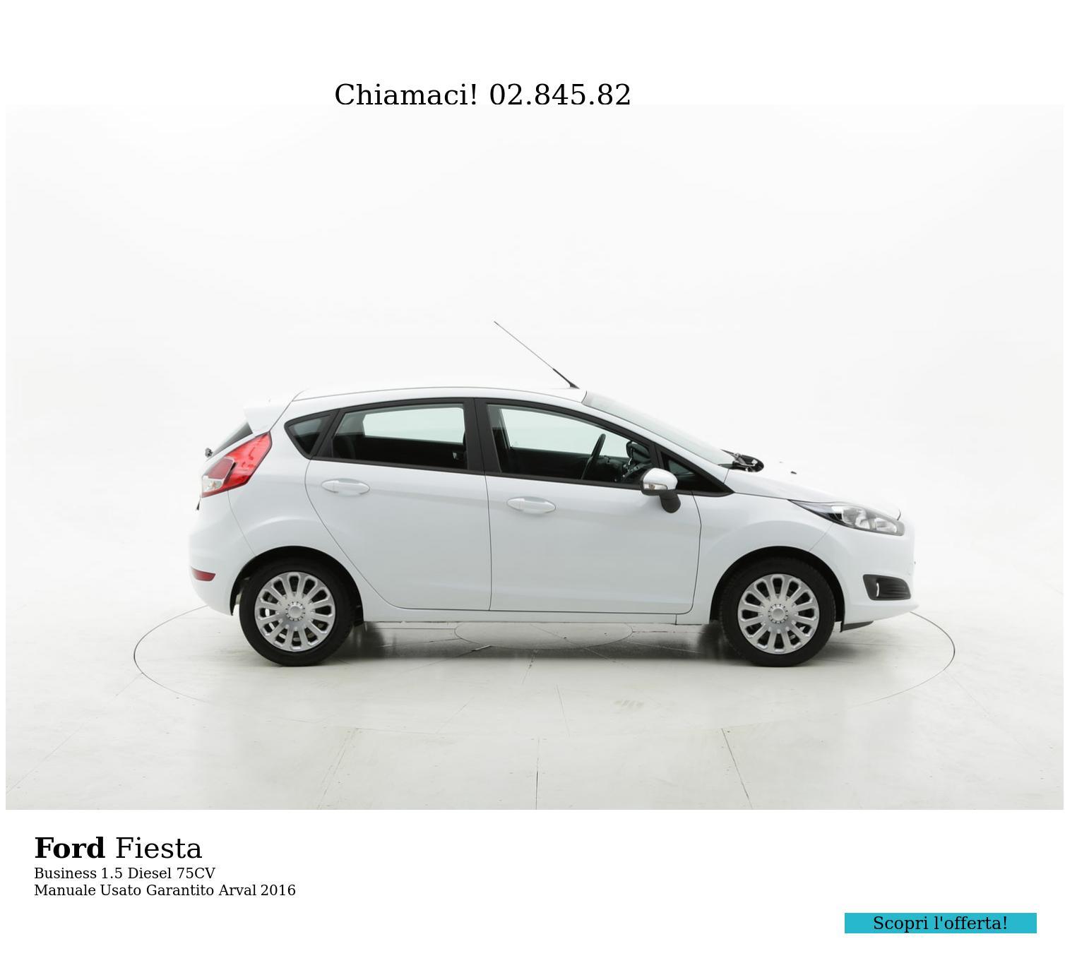 Ford Fiesta Business km 0 diesel bianca | brumbrum