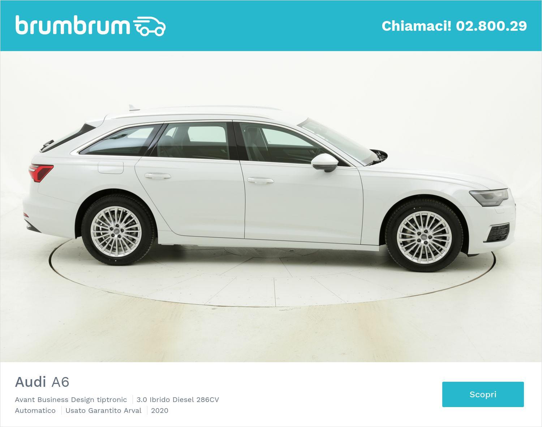 Audi A6 Avant Business Design tiptronic km 0 ibrido diesel bianca | brumbrum