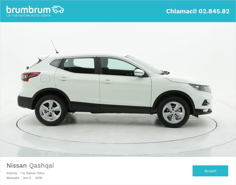 Nissan Qashqai Acenta km 0 diesel bianca   brumbrum