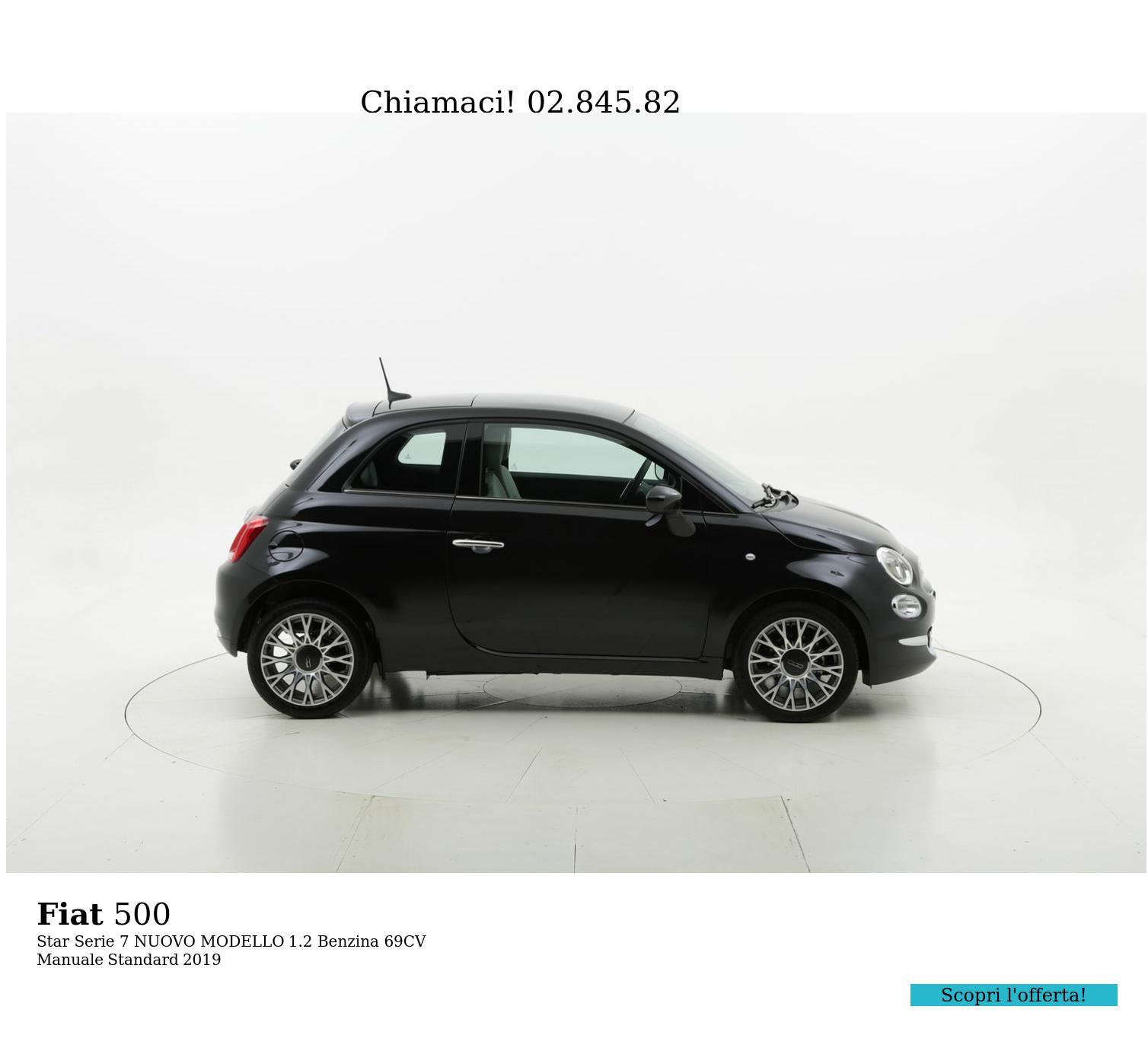 Fiat 500 Star Serie 7 NUOVO MODELLO km 0 benzina nera | brumbrum