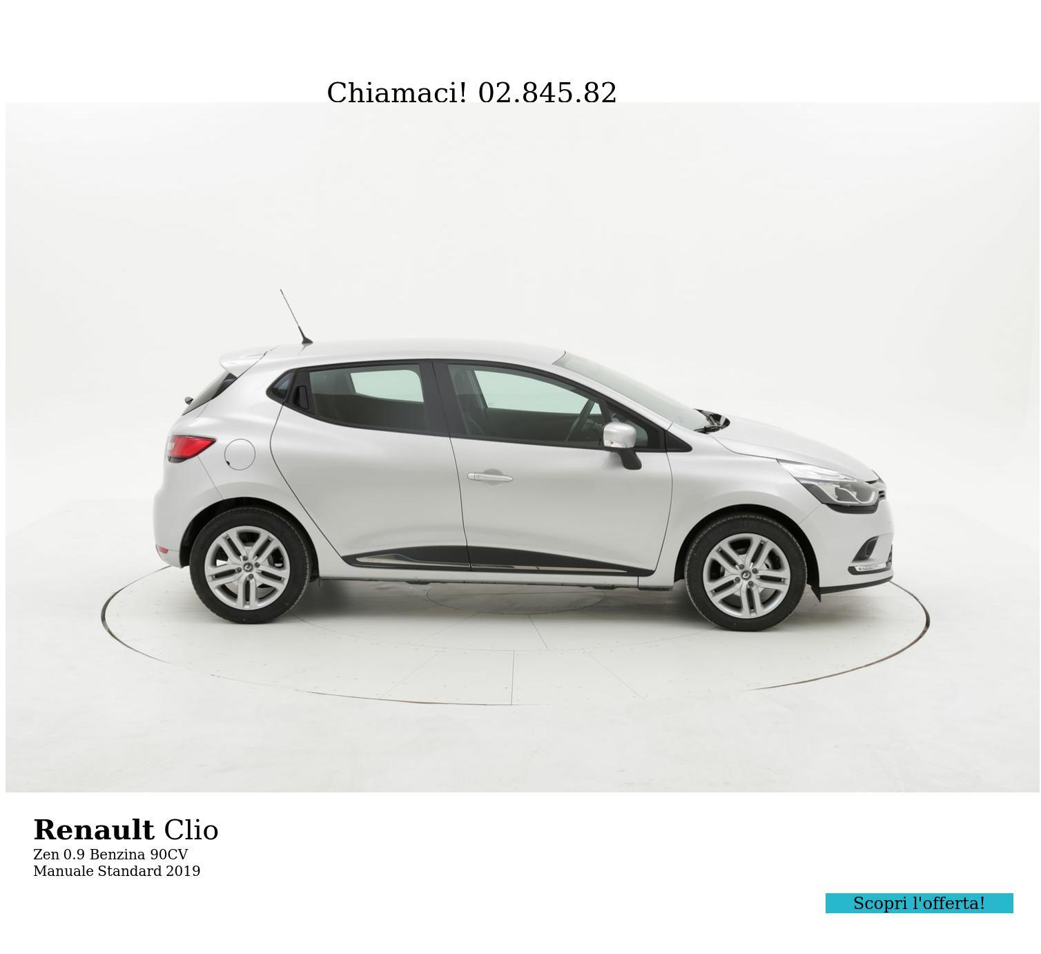 Renault Clio Zen km 0 benzina grigia | brumbrum