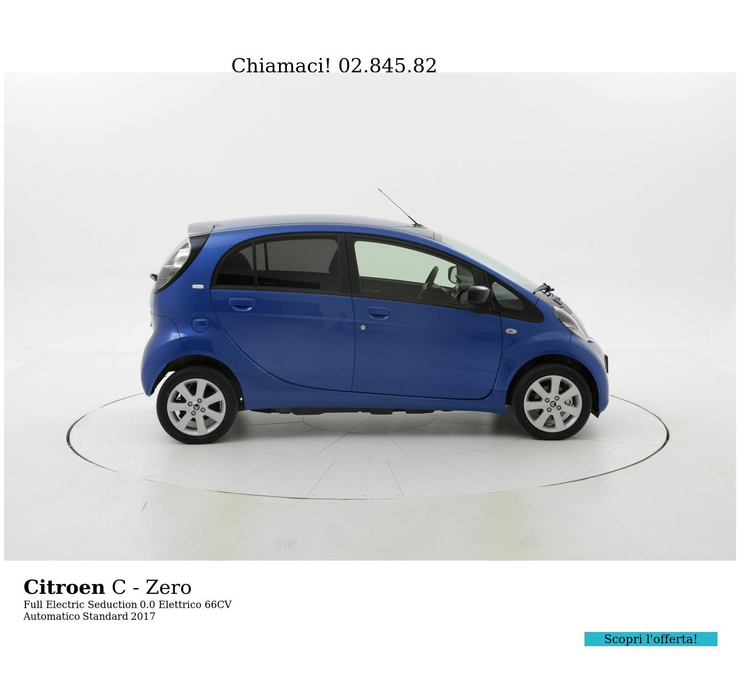 Citroen C - Zero Full Electric Seduction km 0 elettrico blu | brumbrum