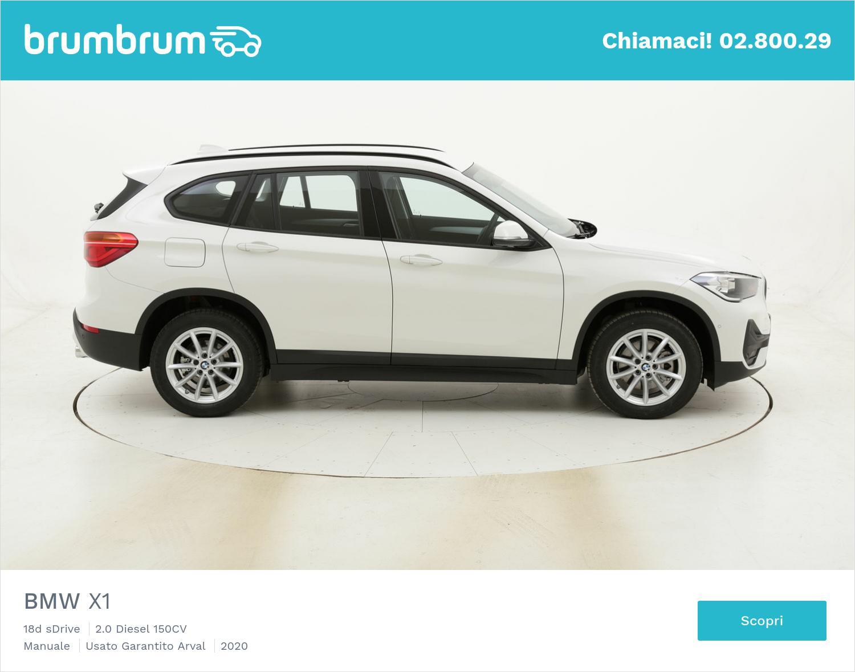 BMW X1 18d sDrive km 0 diesel bianca | brumbrum