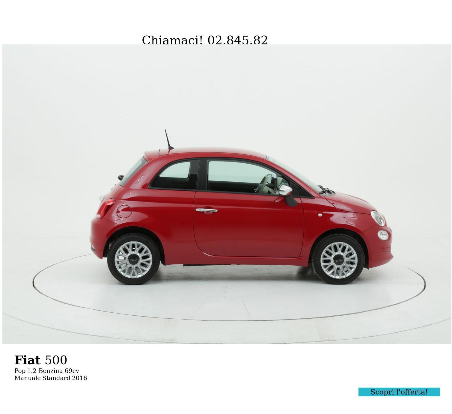 Fiat 500 Pop km 0 benzina rossa   brumbrum