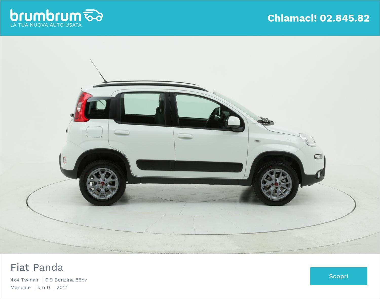 Fiat Panda 4x4 Twinair km 0 benzina bianca | brumbrum