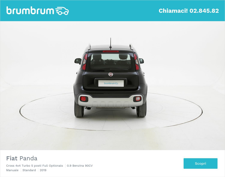 Fiat Panda Cross 4x4 Turbo 5 posti Full Optionals km 0 benzina nera   brumbrum